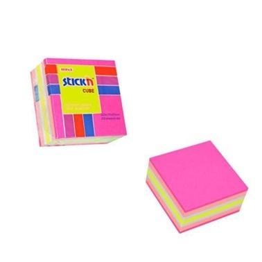 Gıpta Yapışkanlı Küp Not Kağıdı 50*50 4 Renk Renkli